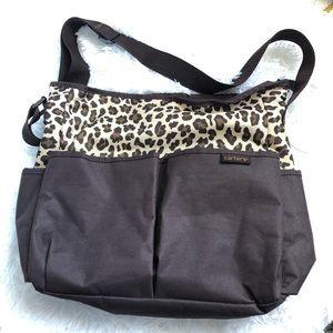 Carters leopard diaper bag